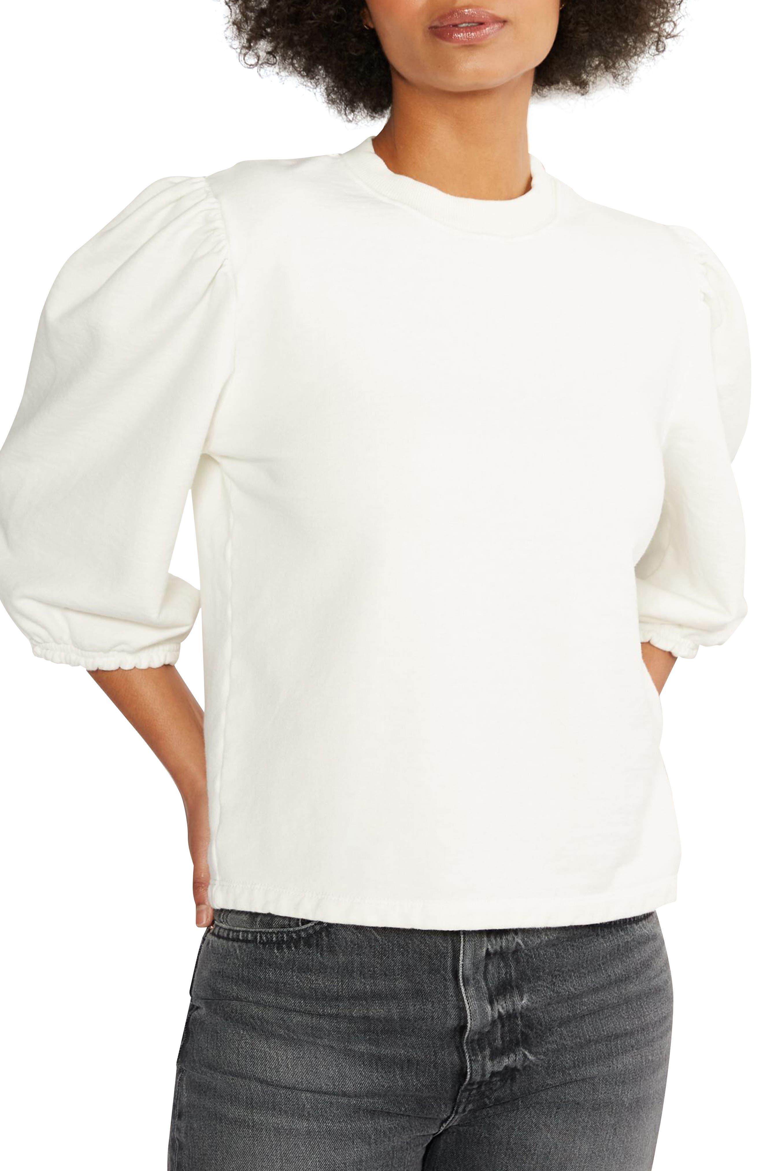Women's Etica Marie Puff Sleeve Cotton Sweatshirt