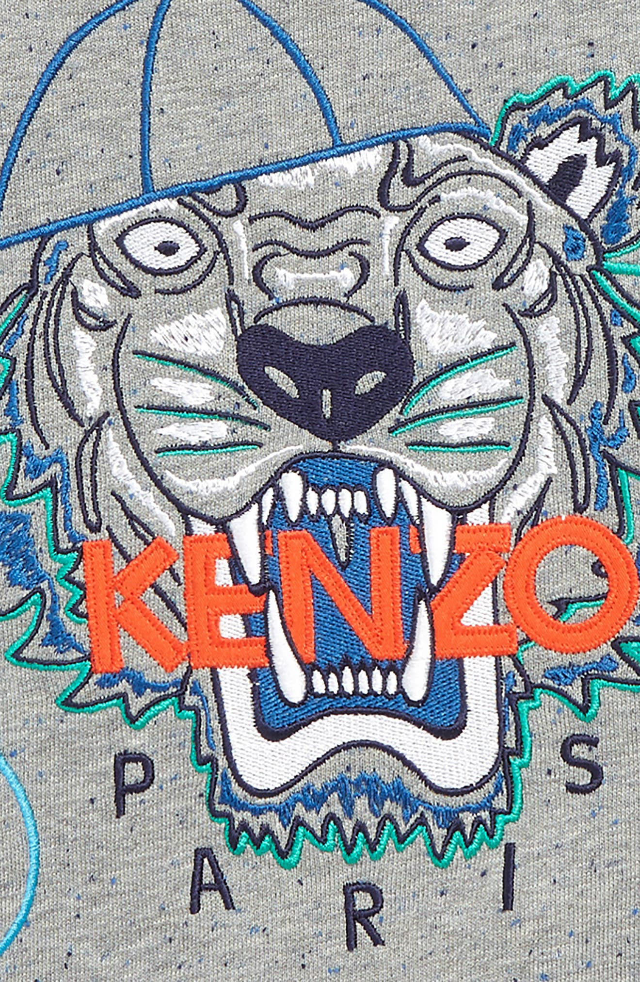 ,                             Wax Embroidered Tiger Sweatshirt,                             Alternate thumbnail 2, color,                             MARL GREY