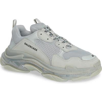 Balenciaga Triple S Clear Sole Trainer Sneaker, Grey