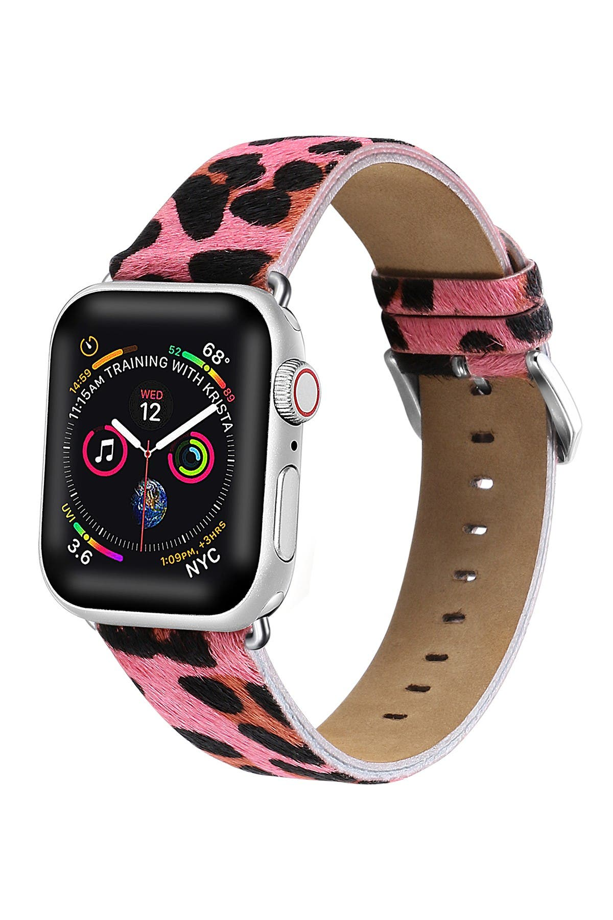 Image of POSH TECH Pink Cheetah Calf Hair 38mm Apple Watch 1, 2, 3, 4 Band