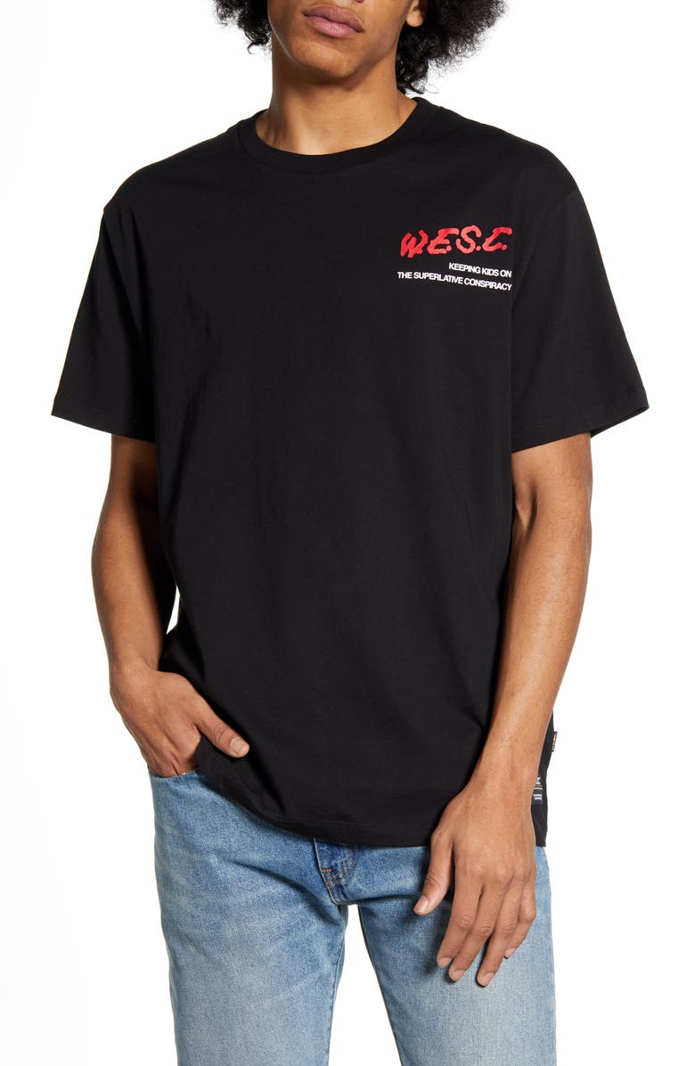 WESC Mason W.E.S.C. Graphic T-Shirt, Main, color, 001