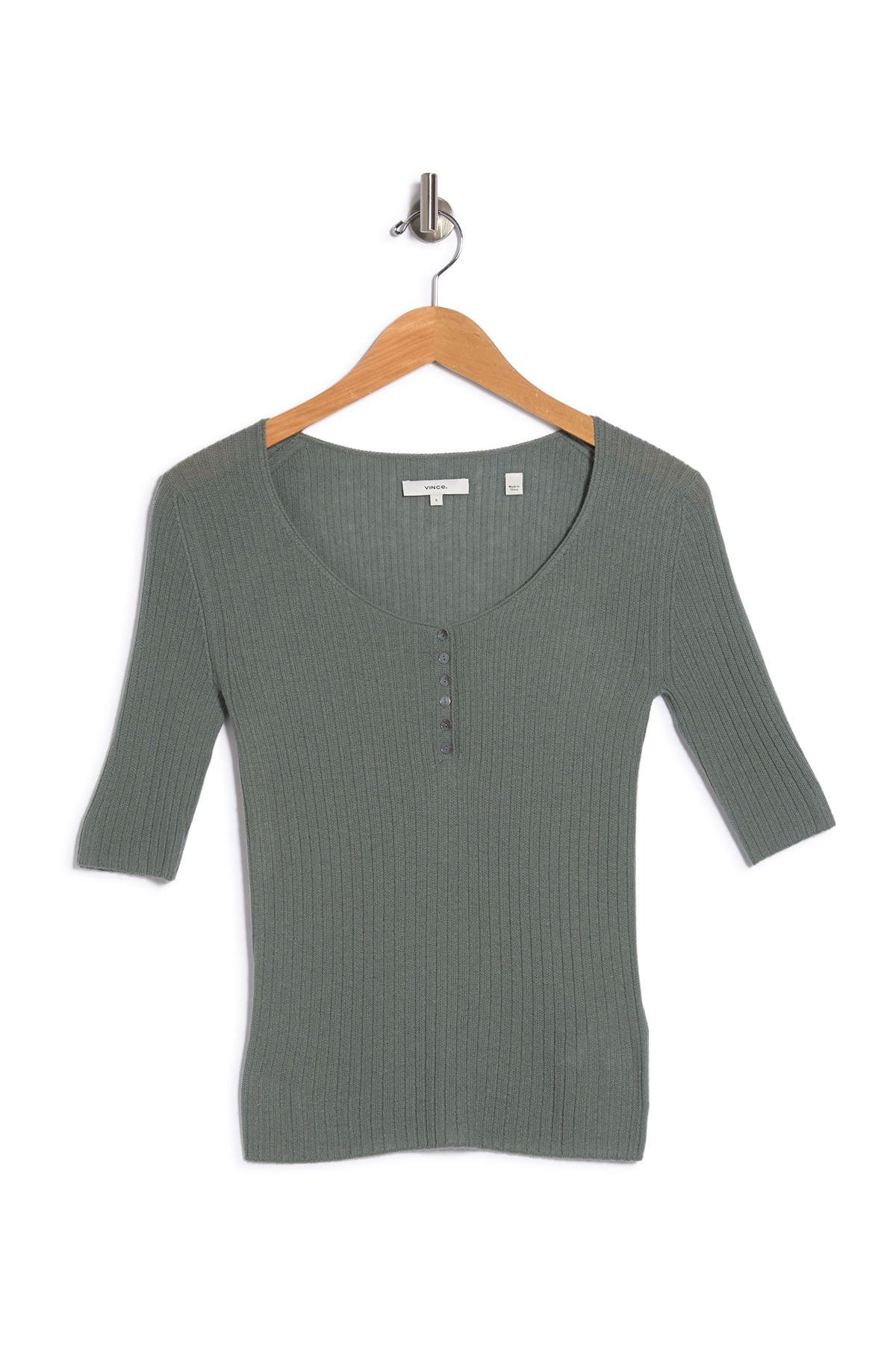 Image of Vince Scoop Neck Henley
