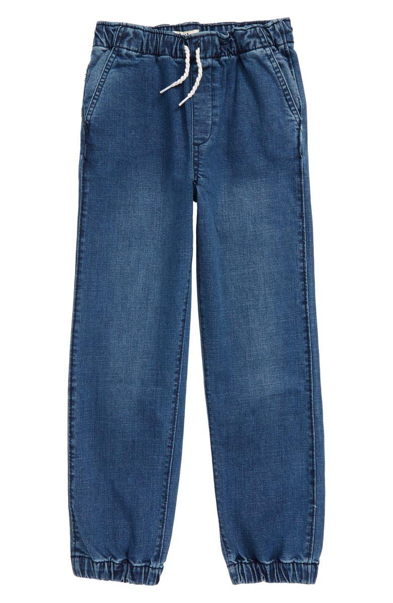 HATLEY Denim Jogger Pants, Main, color, BLUE