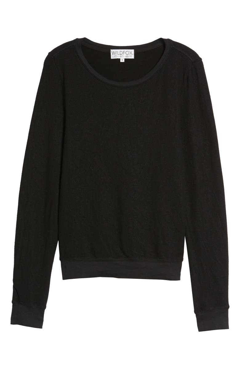 WILDFOX 'Baggy Beach Jumper' Pullover, Main, color, JET BLACK