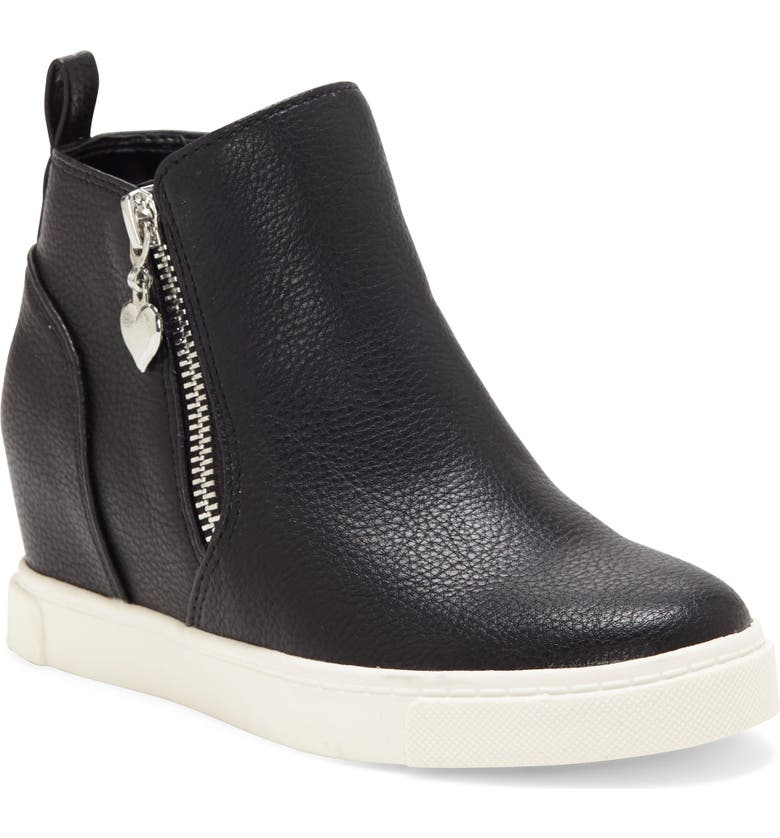VINCE CAMUTO Harpa Wedge Sneaker, Main, color, BLACK