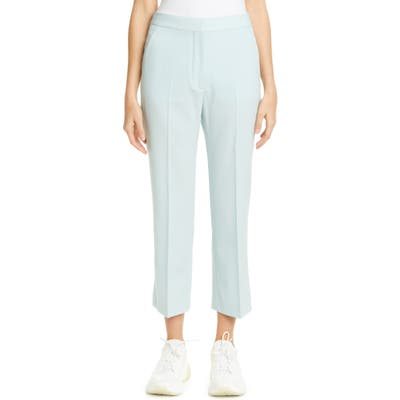 Stella Mccartney High Waist Stretch Wool Crop Flare Pants, US / 46 IT - Blue