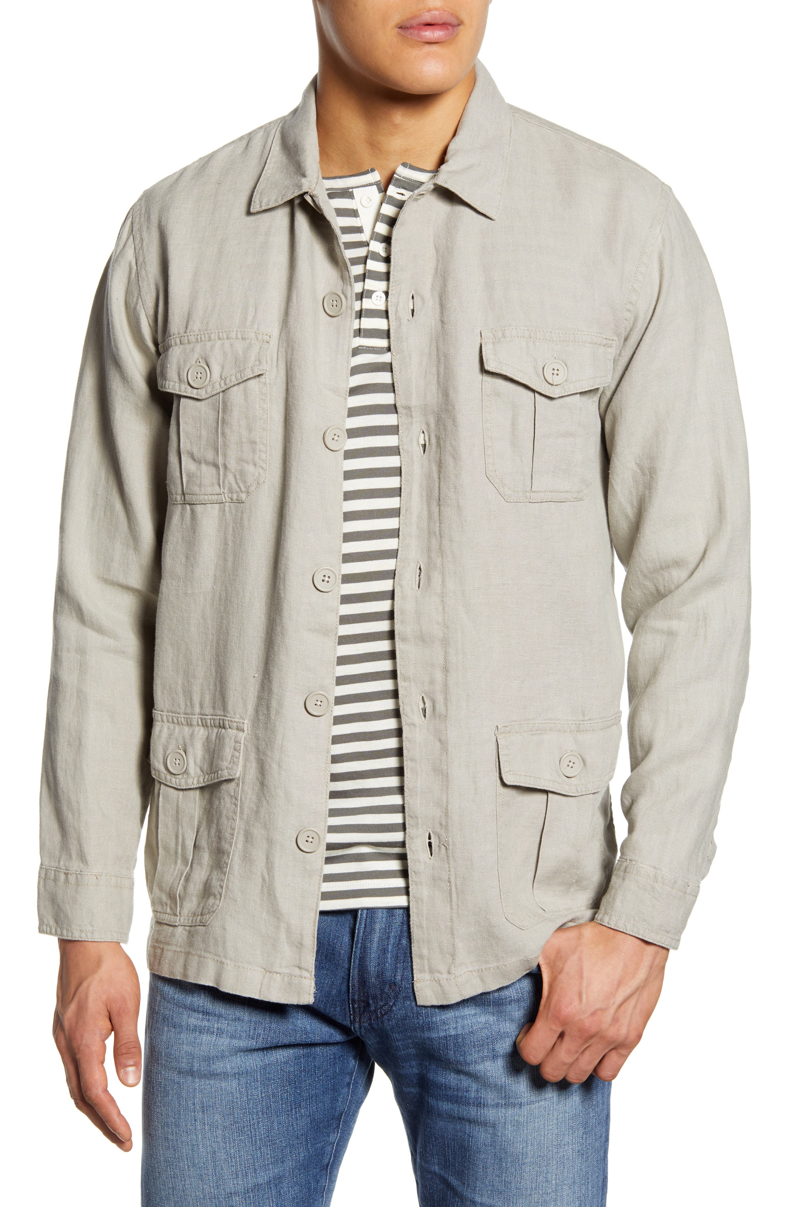 Men's Vintage Jackets & Coats Mens Onia Linen Safari Jacket $150.00 AT vintagedancer.com