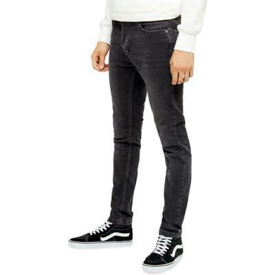 Topman Tyler Skinny Fit Jeans, Black