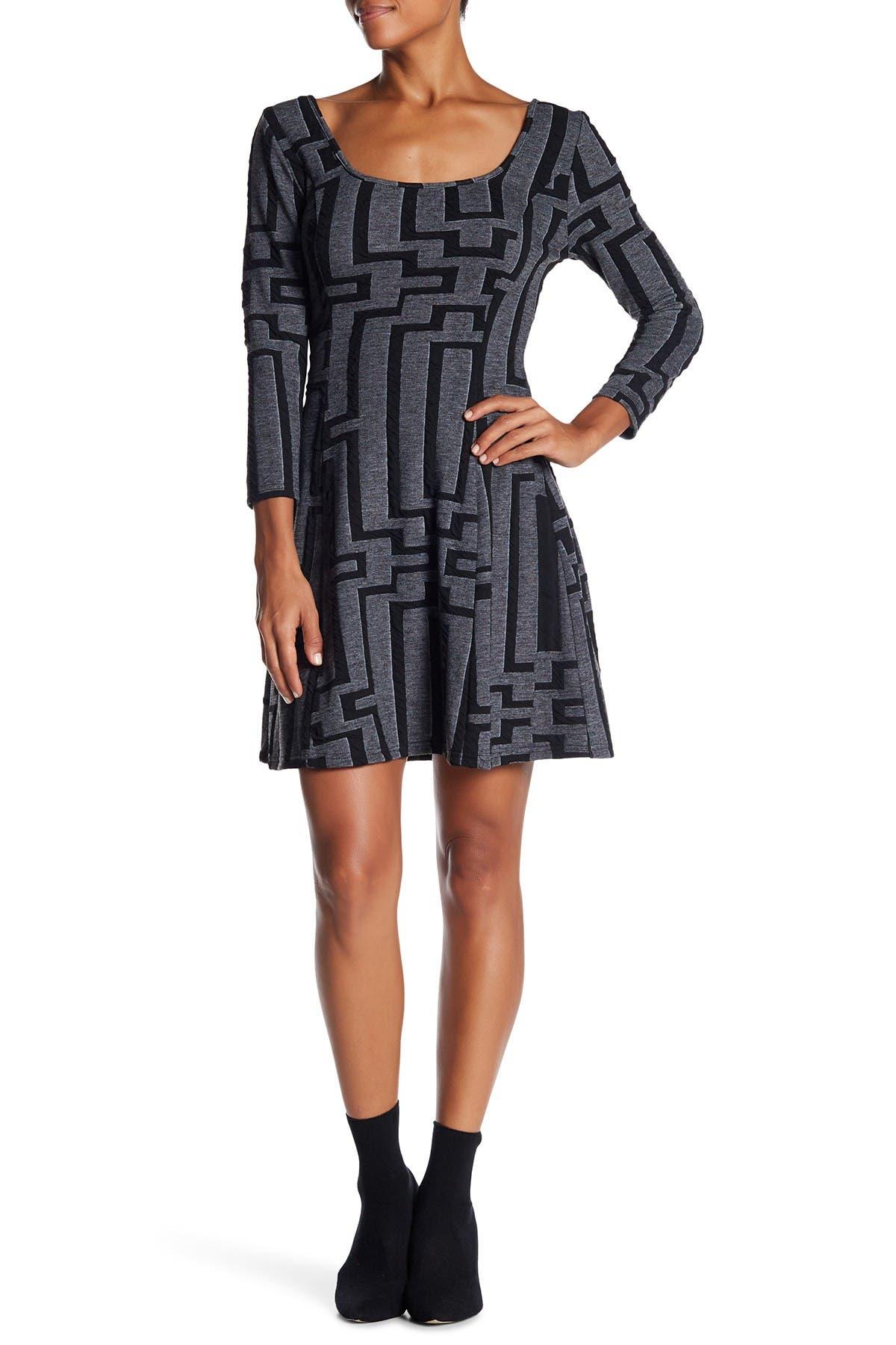 Image of Papillon Geo Print Knit Dress