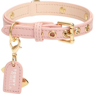 Tommy & Bella Signature Collection Leather Dog Collar, Pink