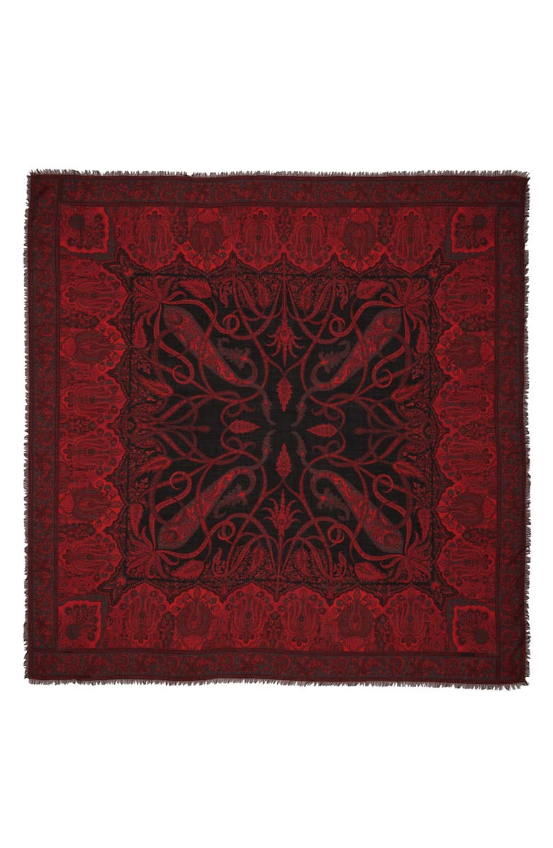 ETRO Paisley Wool & Silk Scarf, Main, color, 600