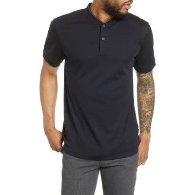 Boss Pratt Regular Fit Solid Henley, Blue