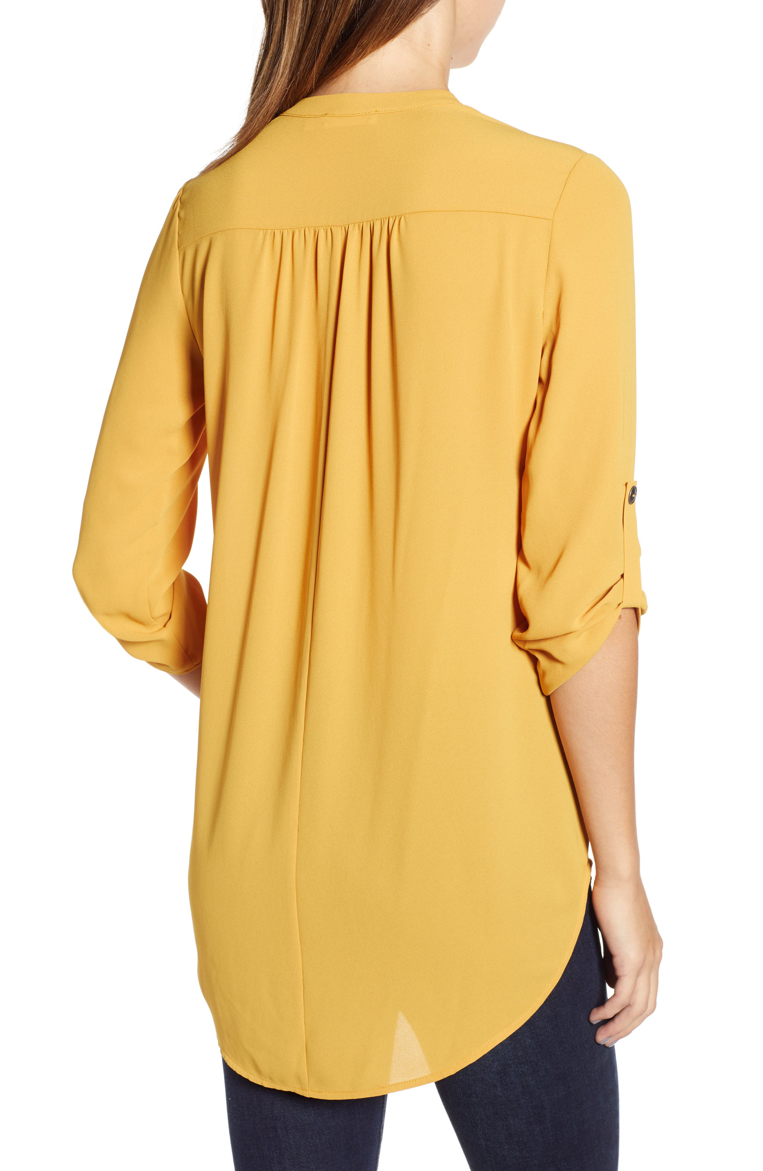 ,                             Perfect Roll Tab Sleeve Tunic,                             Alternate thumbnail 155, color,                             708