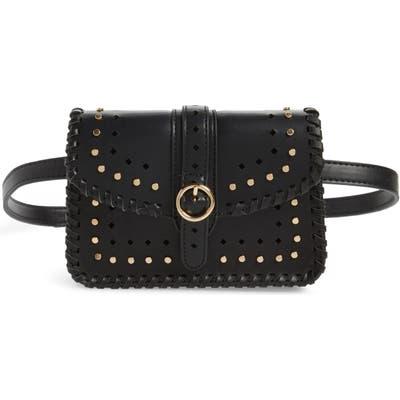 Sole Society Ivah Studded Belt Bag - Black