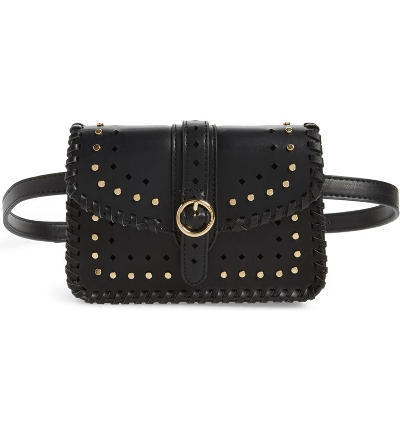 SOLE SOCIETY Ivah Studded Belt Bag, Main, color, 001