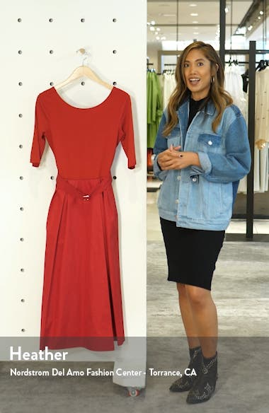 Affine Belted Midi Dress, sales video thumbnail
