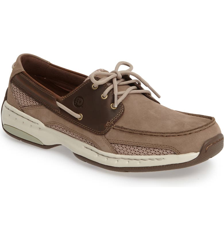 DUNHAM 'Captain' Boat Shoe, Main, color, TAUPE TWO TONE