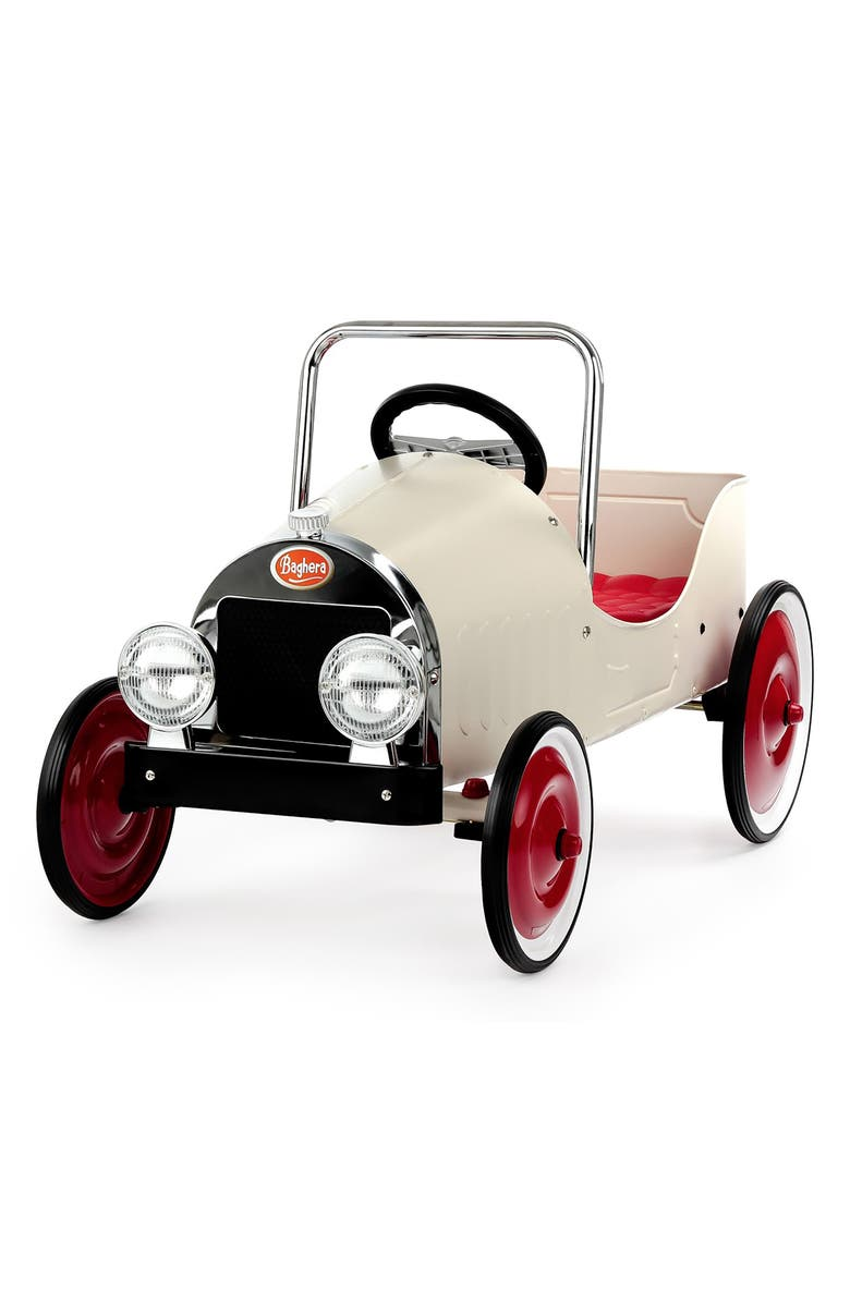 BAGHERA Classic Pedal Car, Main, color, WHITE