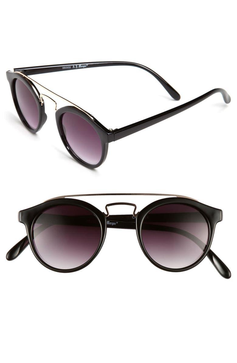A.J. MORGAN 45mm Retro Sunglasses, Main, color, 001