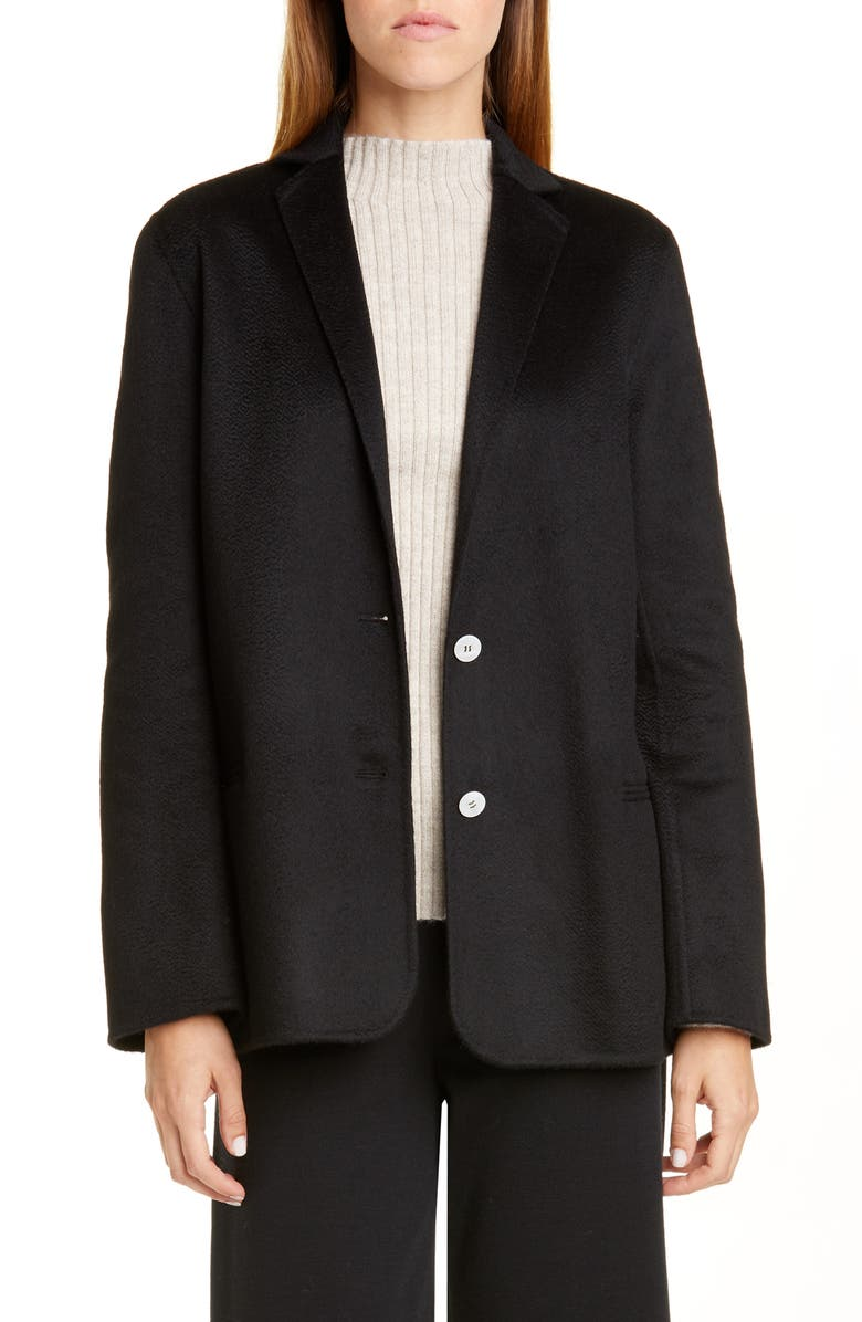 MANSUR GAVRIEL Double Face Cashmere Jacket, Main, color, 001