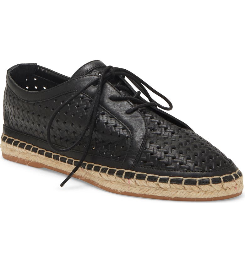 VINCE CAMUTO Galstita Flat, Main, color, BLACK LEATHER