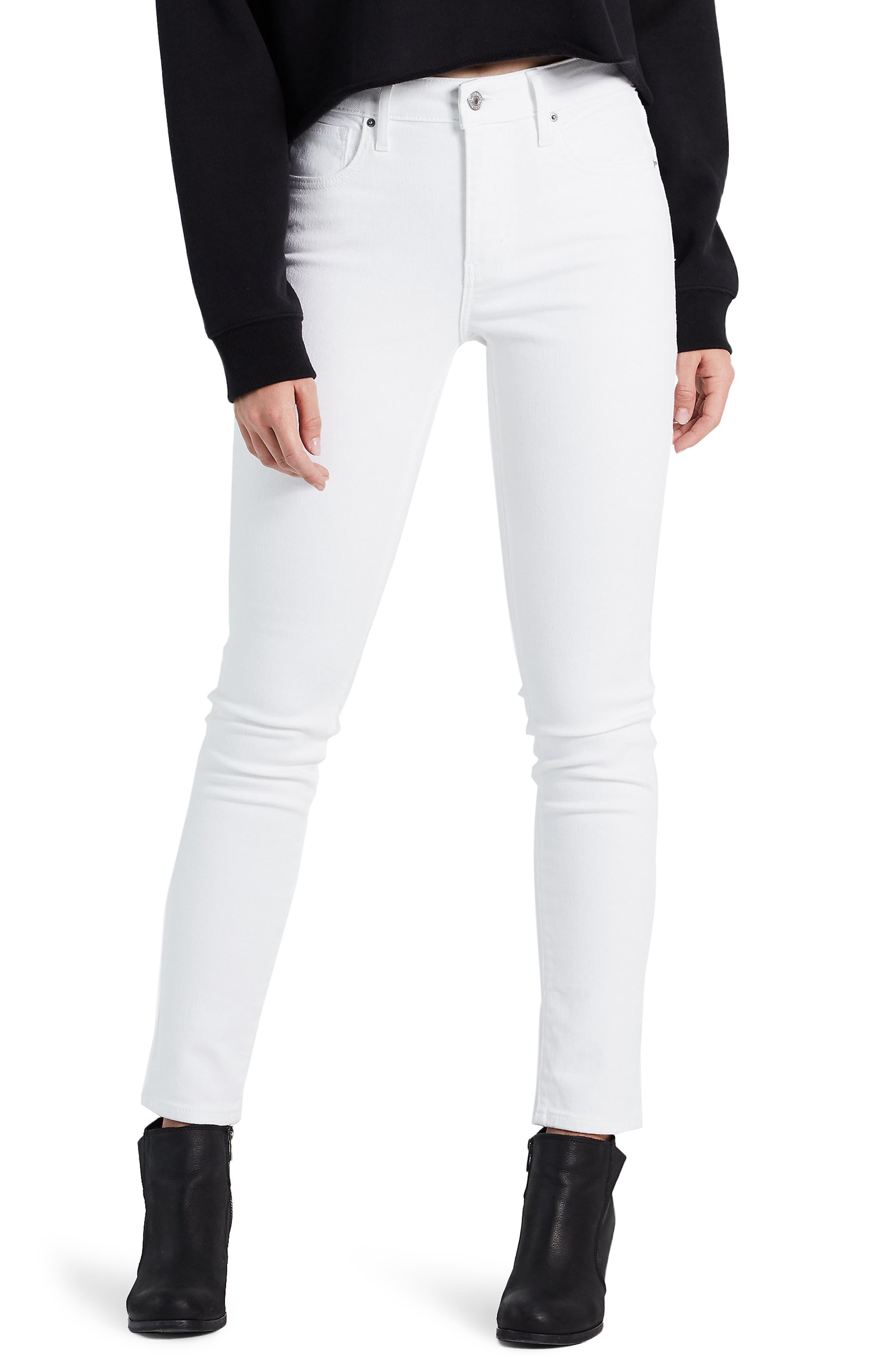 Women's Levi's 721(TM) High Waist Skinny Jeans,  23 x 30 - White