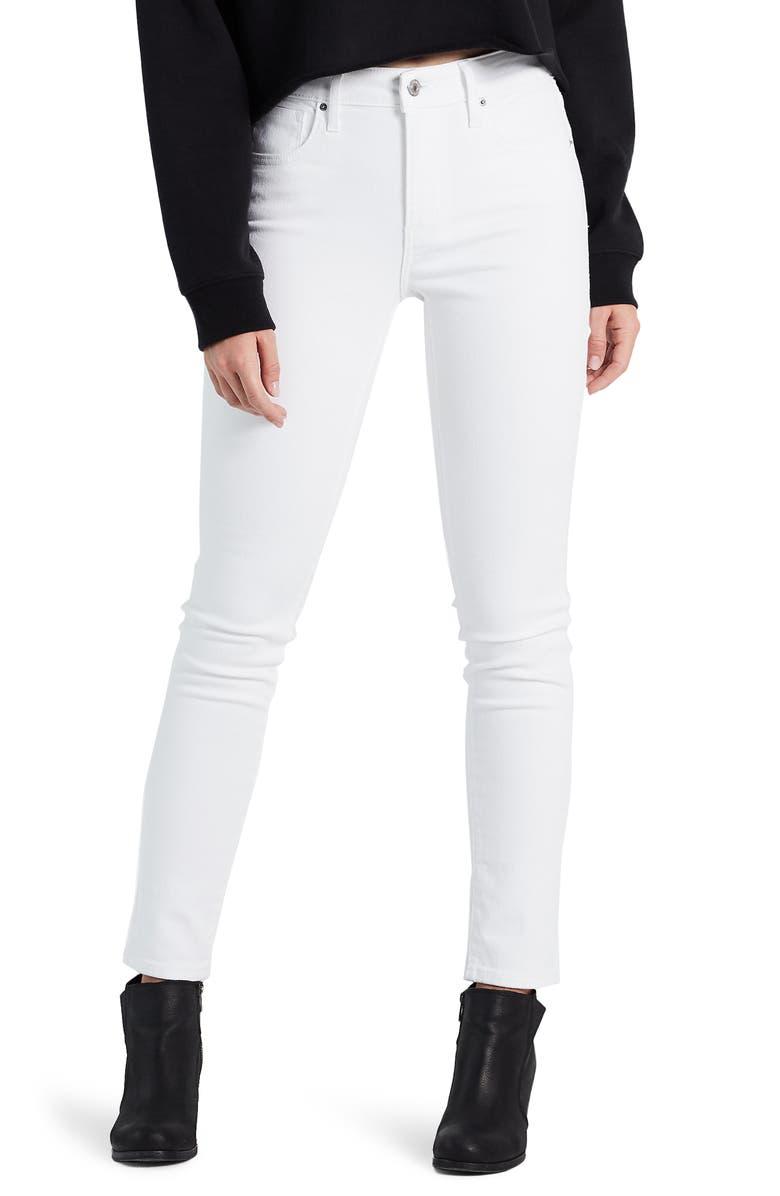LEVI'S<SUP>®</SUP> 721<sup>™</sup> High Waist Skinny Jeans, Main, color, WESTERN WHITE