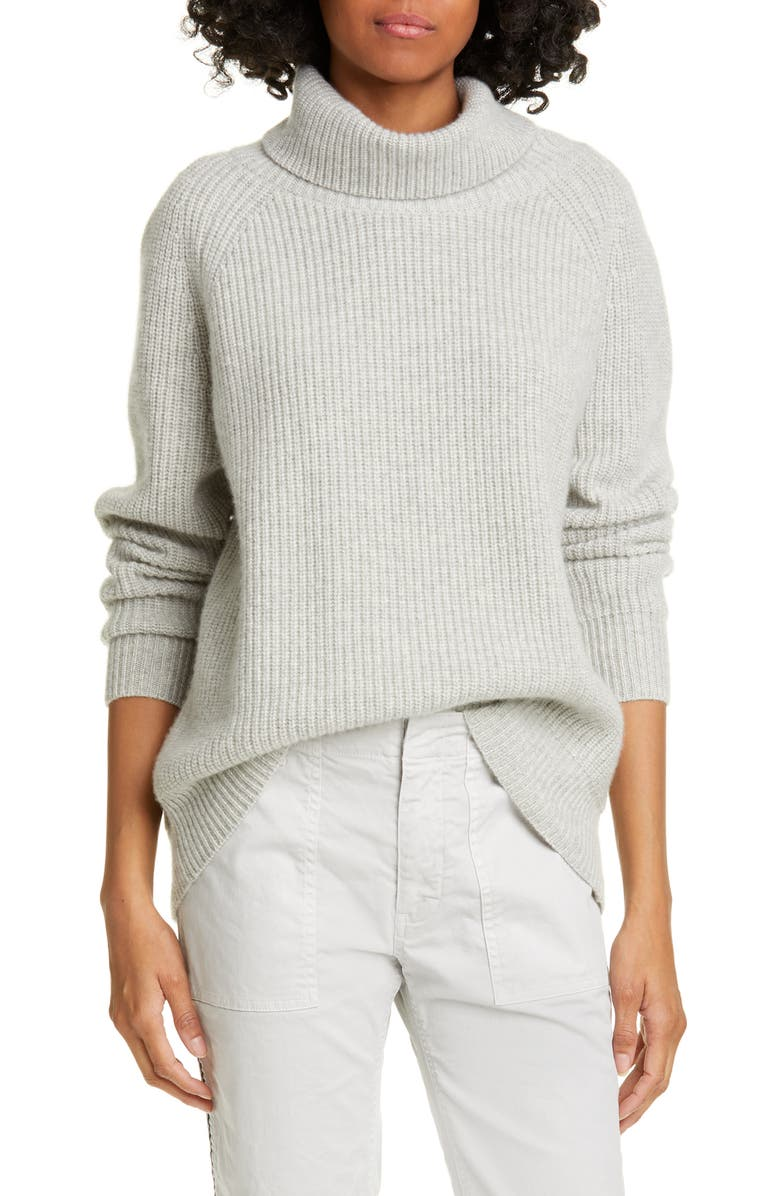 NILI LOTAN Shayna Cashmere Turtleneck Sweater, Main, color, 050