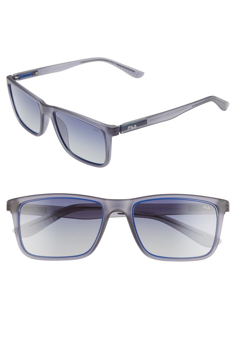 FILA 54mm Polarized Gradient Rectangle Sunglasses, Main, color, 020