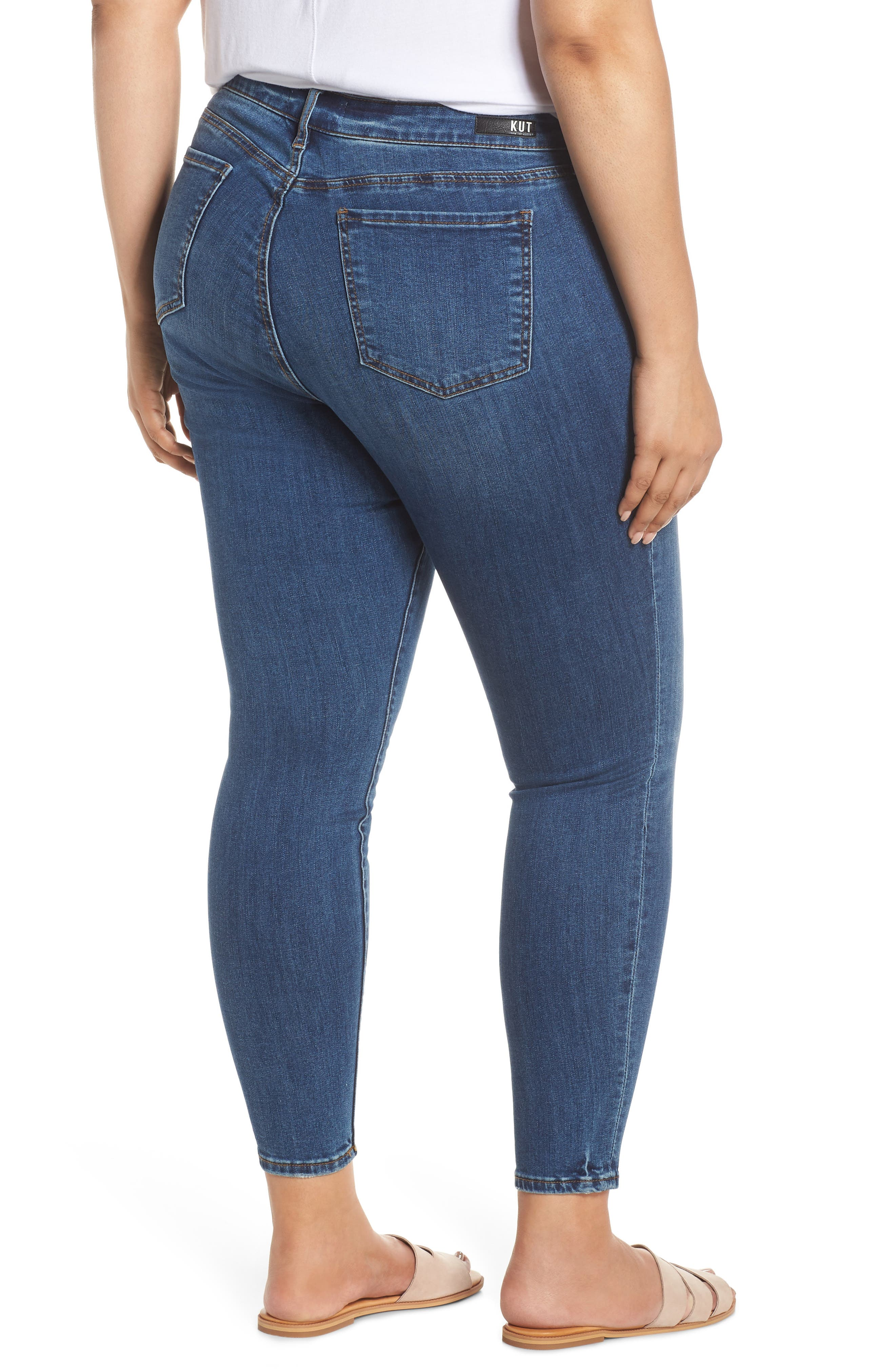 ,                             Donna Skinny Ankle Jeans,                             Alternate thumbnail 2, color,                             UNTOUCHABLE
