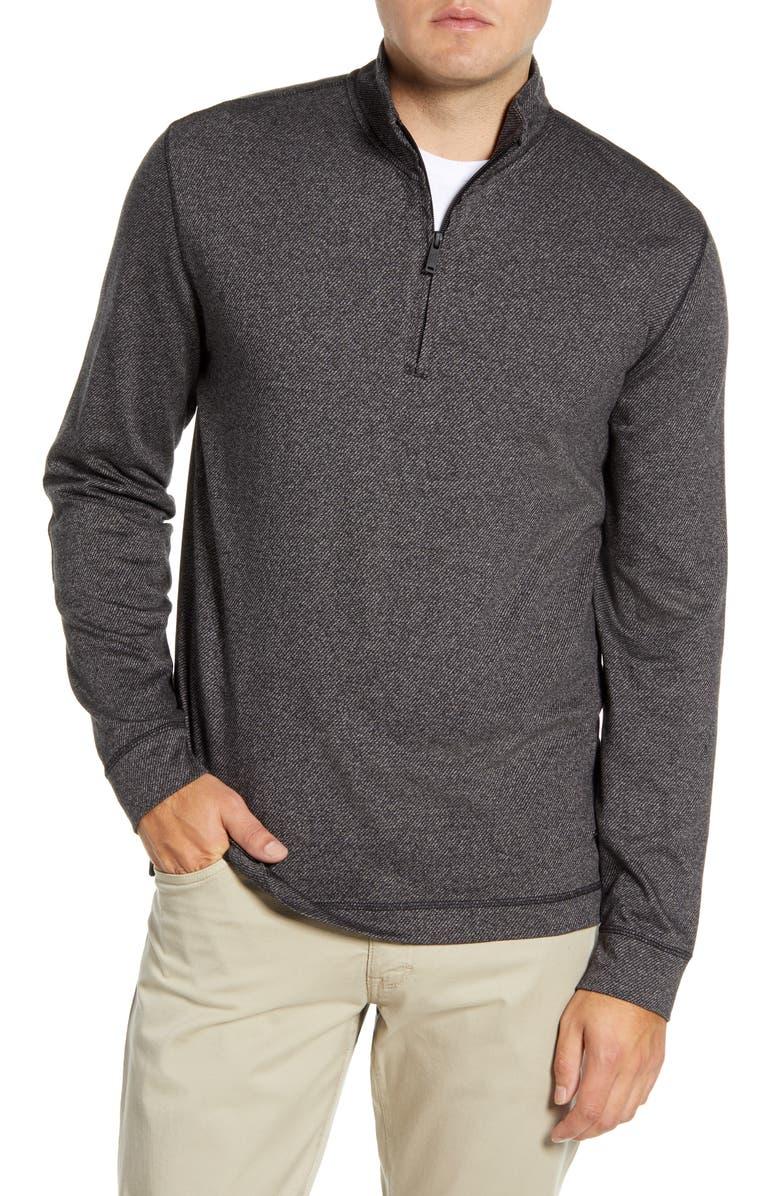 RODD & GUNN Anvil Island Regular Fit Pullover, Main, color, BLACK