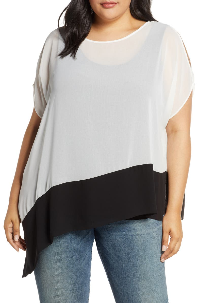 ESTELLE Mono Poncho Top, Main, color, MILK