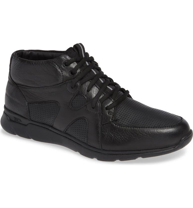JOHNSTON & MURPHY Prentiss Waterproof Sneaker, Main, color, BLACK LEATHER