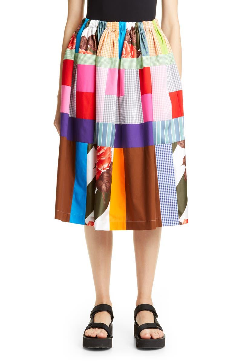 TRICOT COMME DES GARÇONS Patchwork Print Skirt, Main, color, 960
