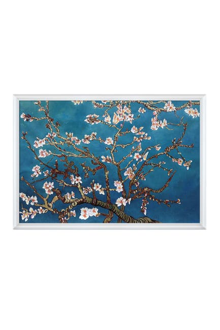 "Image of Overstock Art Branches Of An Almond Tree In Blossom Framed Oil Reproduction of an Original Painting by Vincent Van Gogh - 26""x38"""