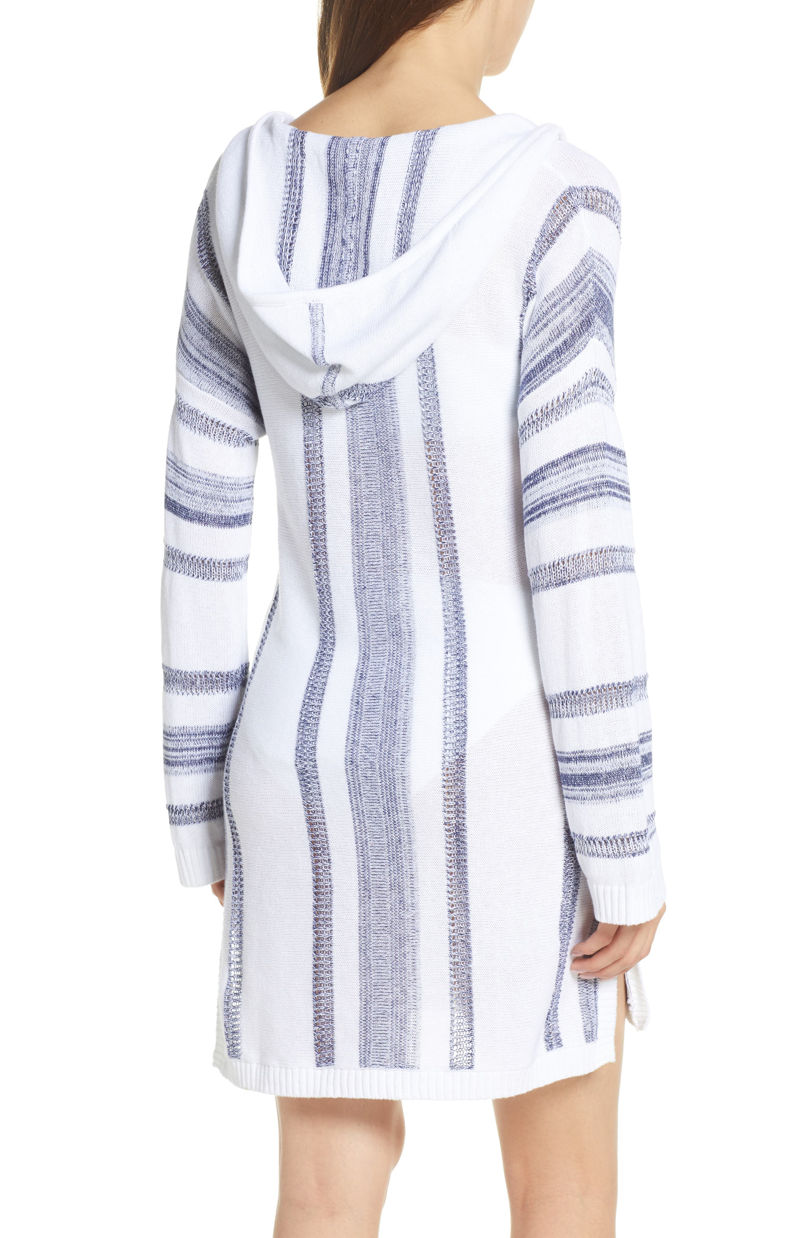,                             Baja Hooded Cover-Up Sweater,                             Alternate thumbnail 2, color,                             WHITE/ MARE