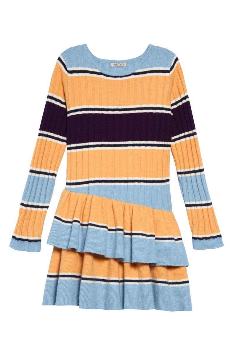HABITUAL Maisie Stripe Rib Sweater Dress, Main, color, STRIPE