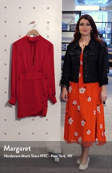 Angela Plunge Neck Long Sleeve Minidress, sales video thumbnail