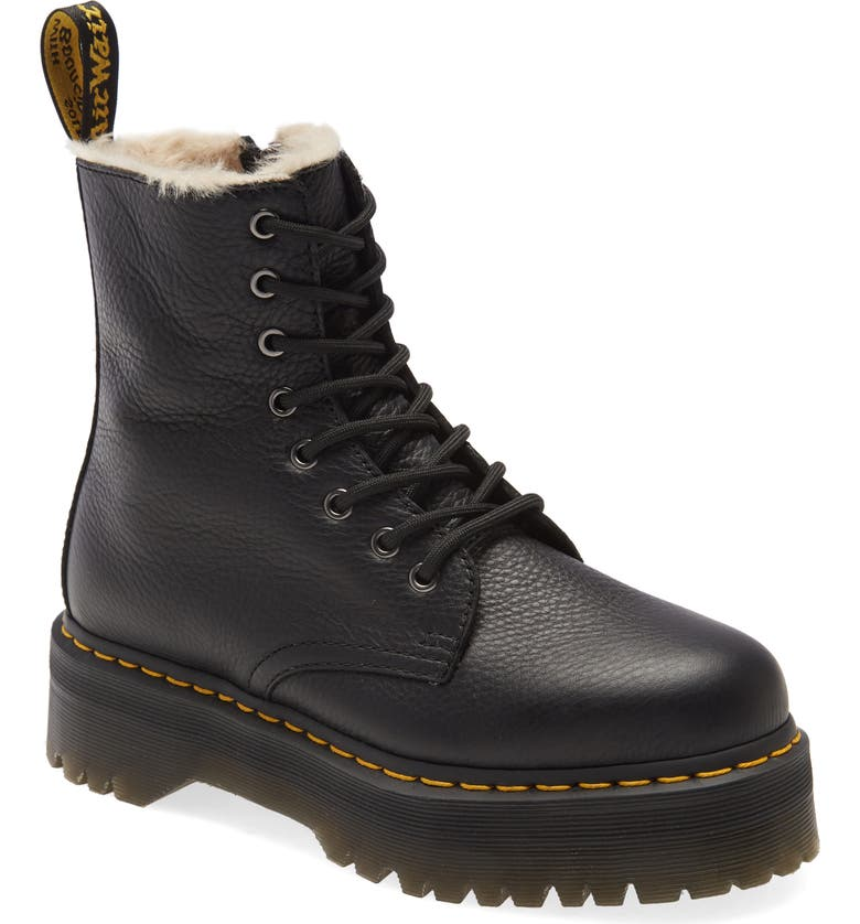 DR. MARTENS Jadon Platform Boot, Main, color, BLACK PISA LEATHER