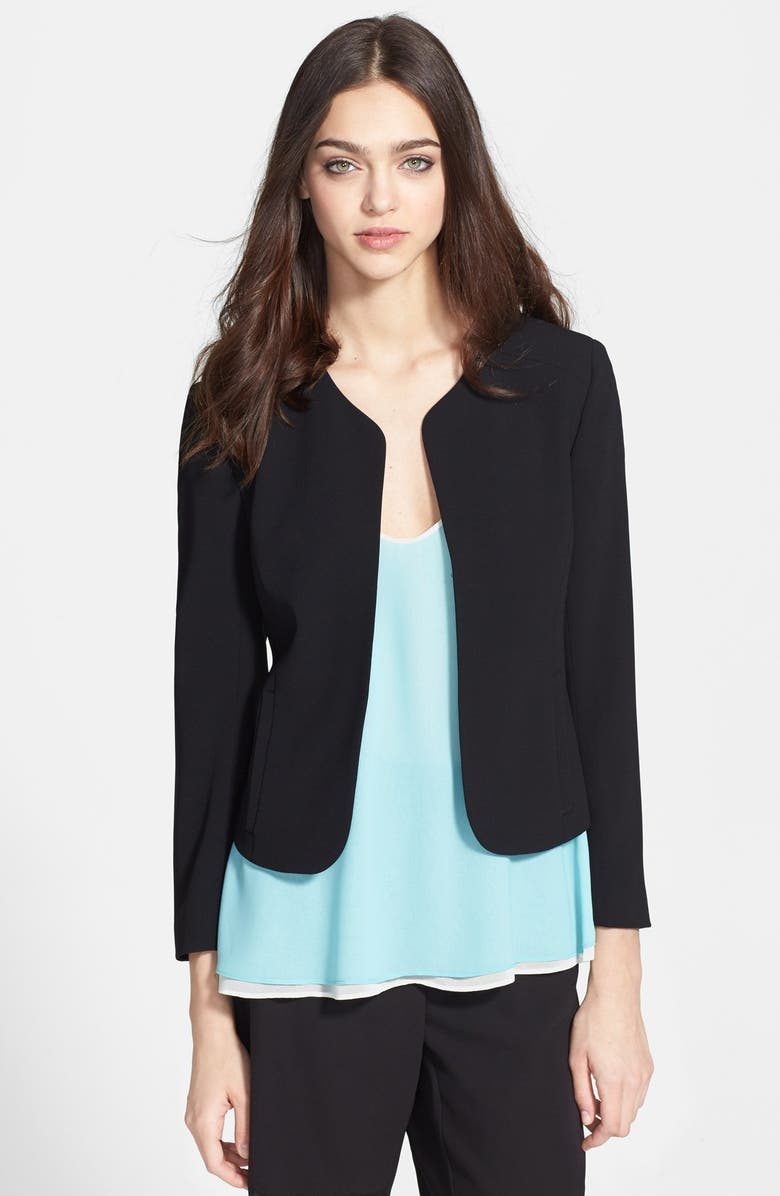CHELSEA28 Collarless Jacket, Main, color, 001