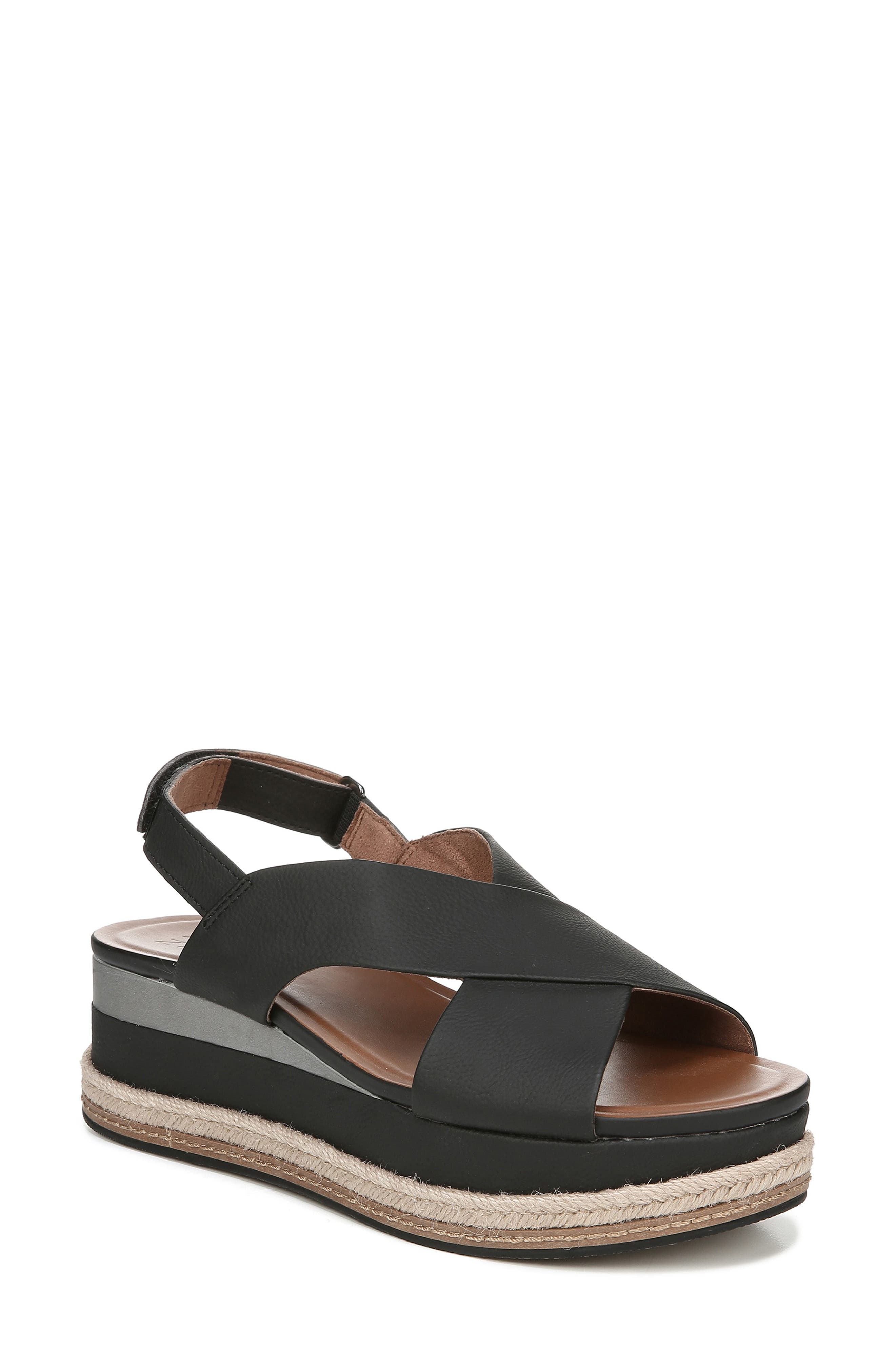 Baya Espadrille Wedge Sandal, Main, color, BLACK NUBUCK LEATHER
