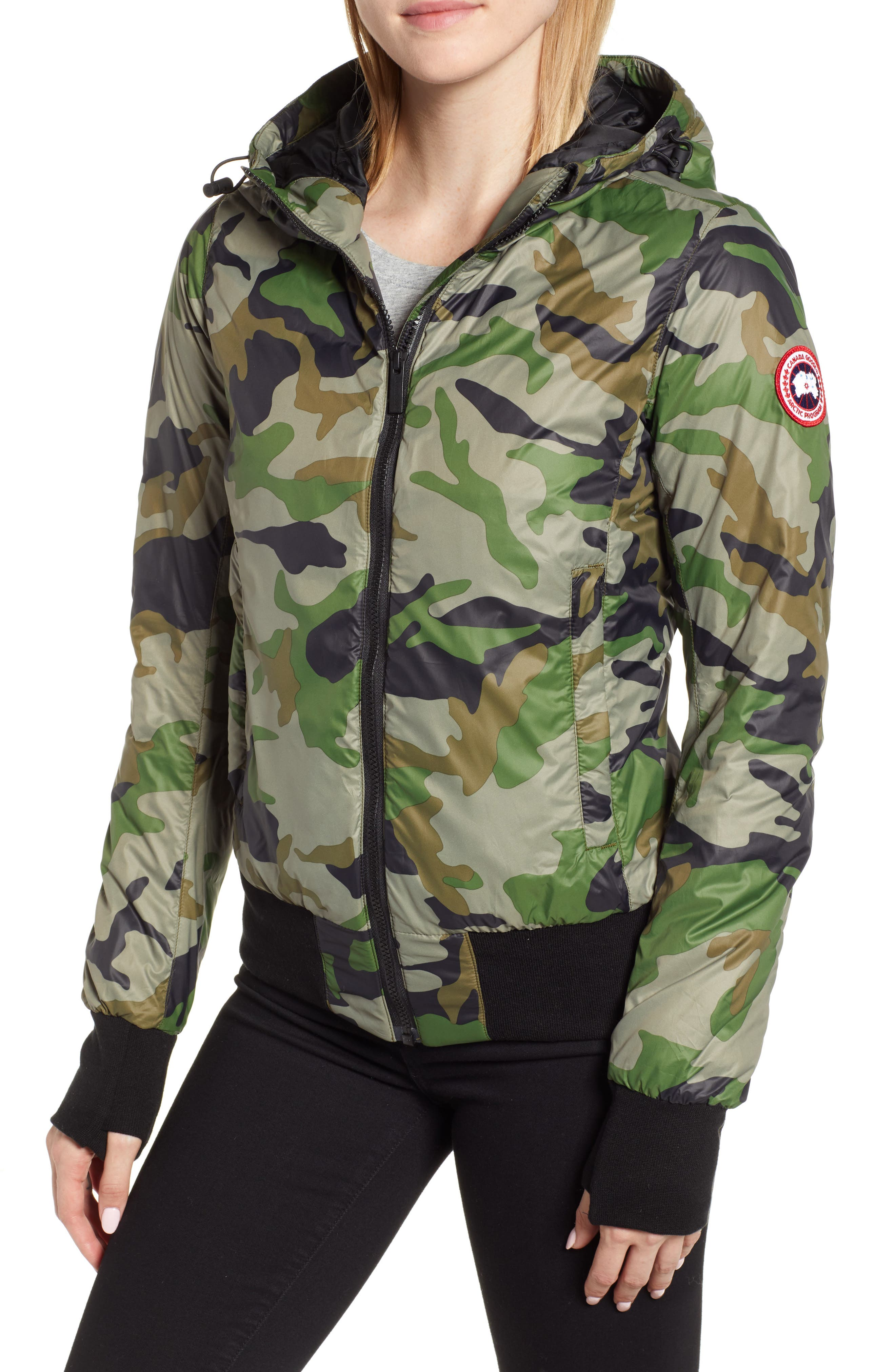 Canada Goose Dore Goose Down Hooded Jacket, (0) - Green
