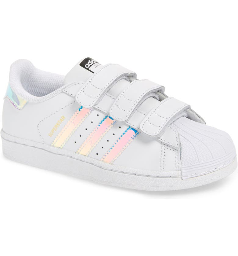 ADIDAS Superstar - Iridescent Sneaker, Main, color, SILVER METALLIC/ WHITE