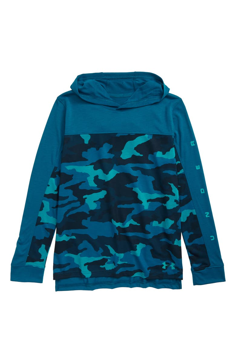 UNDER ARMOUR Relay Hoodie, Main, color, TEAL VIBE/ TEAL RUSH