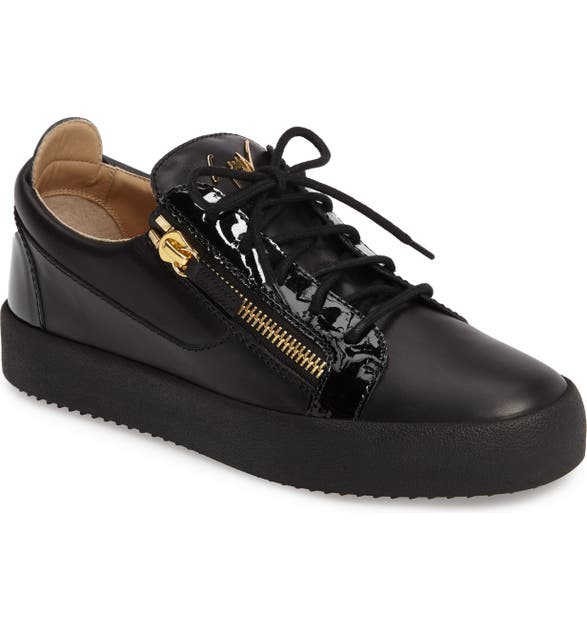 611ba9ea4e152 Giuseppe Zanotti Men's Leather Low-Top Sneakers In Black | ModeSens