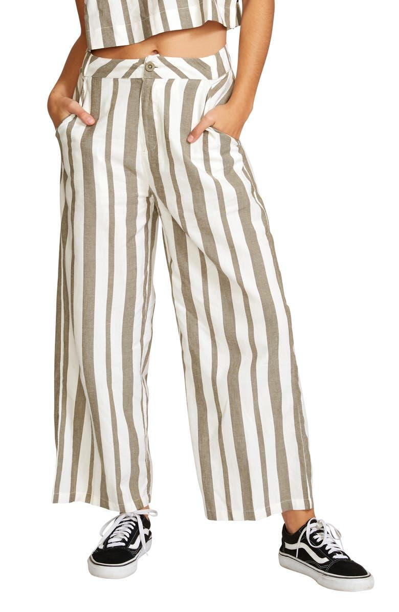 RVCA Nixes Stripe Crop Pants, Main, color, 300
