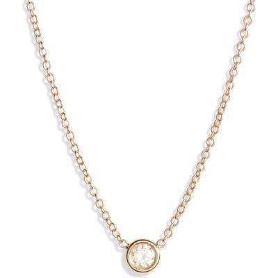 Zoe Chicco Bezel Diamond Pendant Necklace