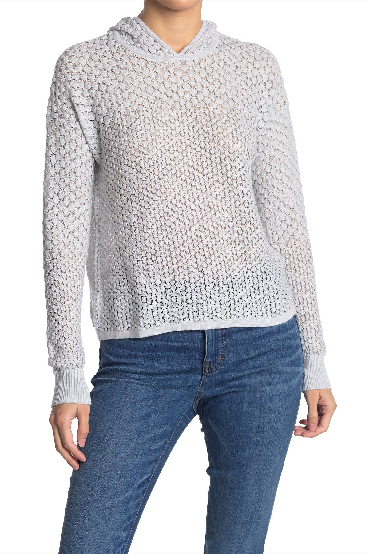 Image of Autumn Cashmere Scales Pointelle Hoodie