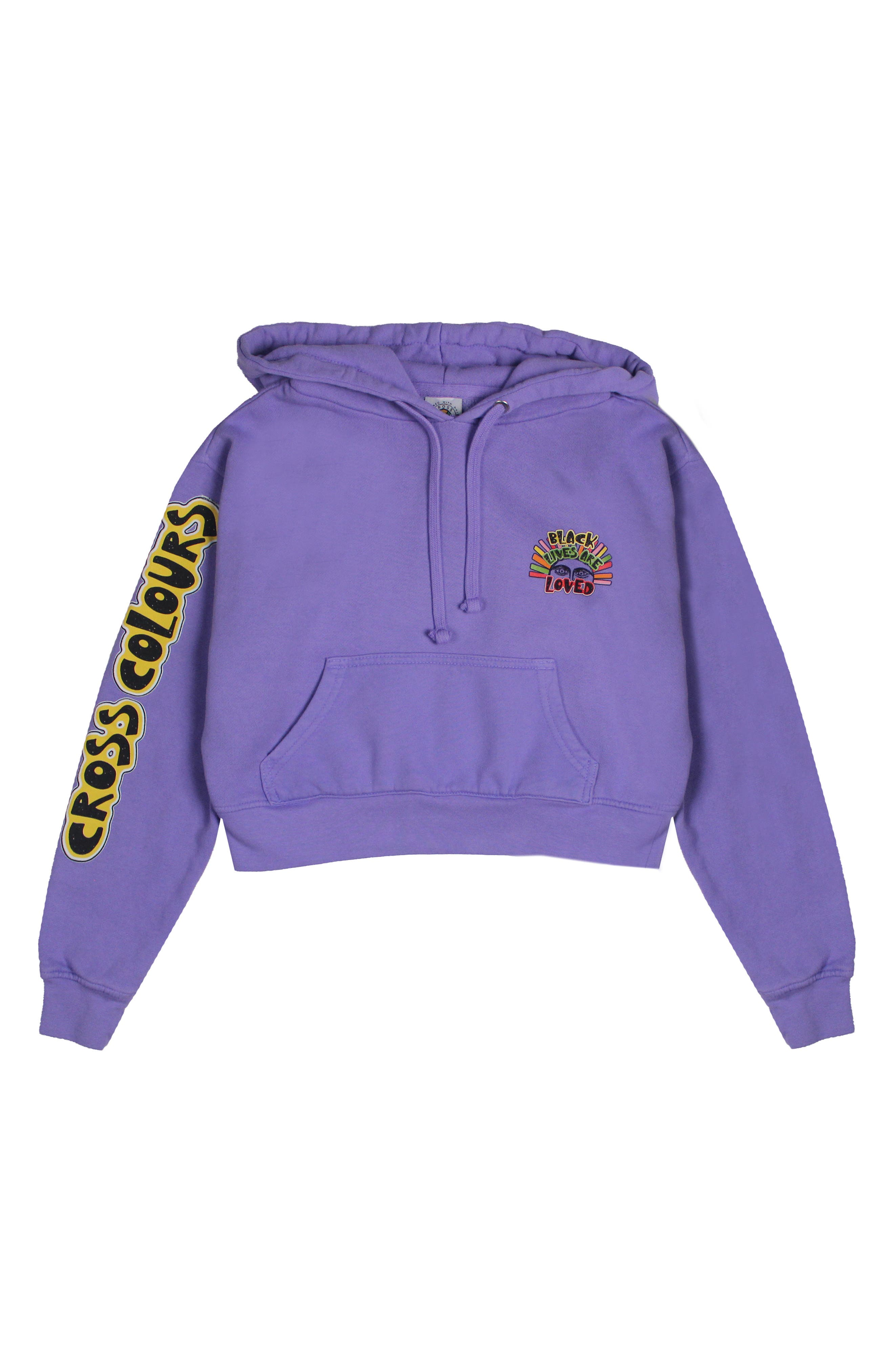 Black Lives Are Loved Crop Sweatshirt