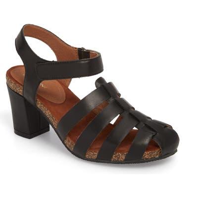 Sudini Carrara Block Heel Sandal- Black